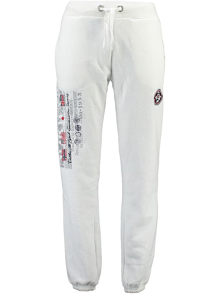 """Geographical Norway Sweathose """"Mabouret"""" in Weiß"""