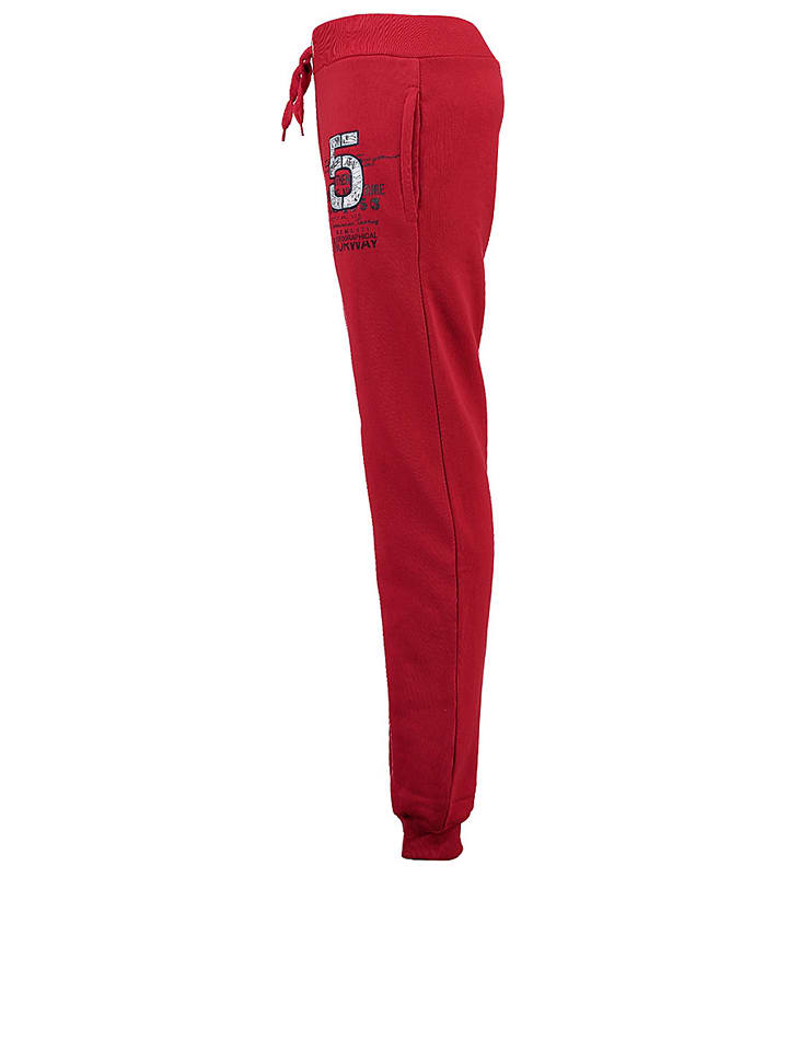 """Geographical Norway Sweathose """"Mapolitain"""" in Rot"""