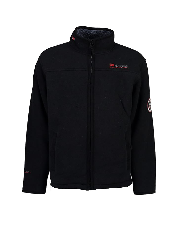 Geographical Norway Fleecejacke Ulmaire in Schwarz