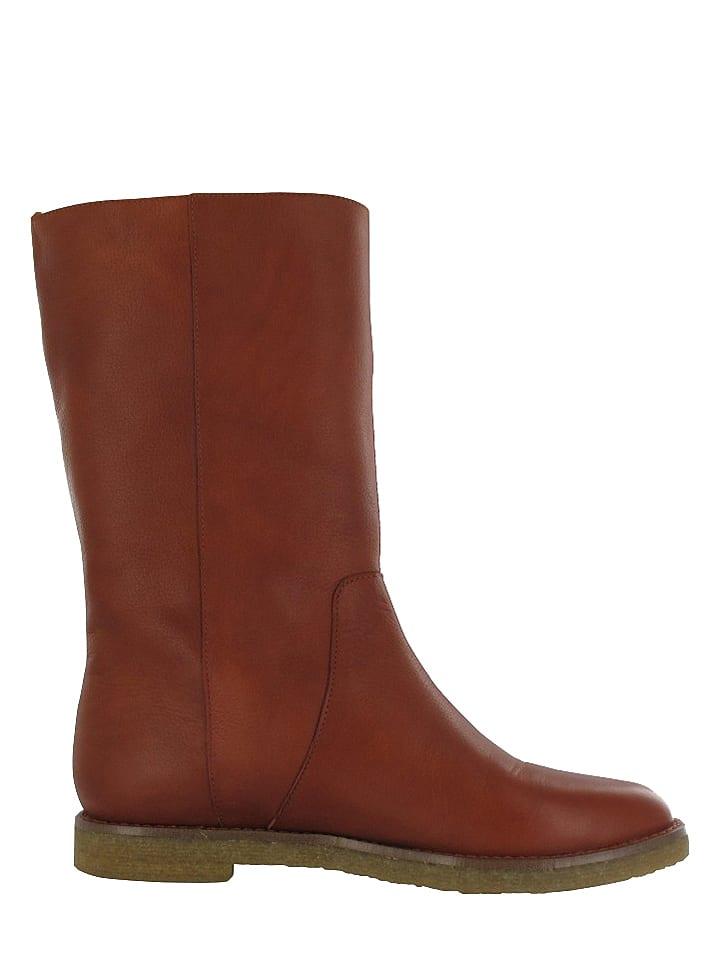 "Flip Flop Leder-Stiefel ""Taari"" in Cognac"