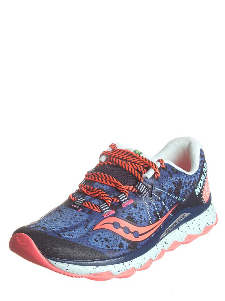"""Saucony Sneakers """"Nomad"""" in Blau/ Neonpink/ Mint"""