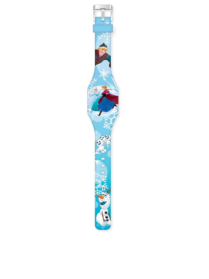 """FROZEN LED-horloge """"Frozen"""" lichtblauw/meerkleurig"""