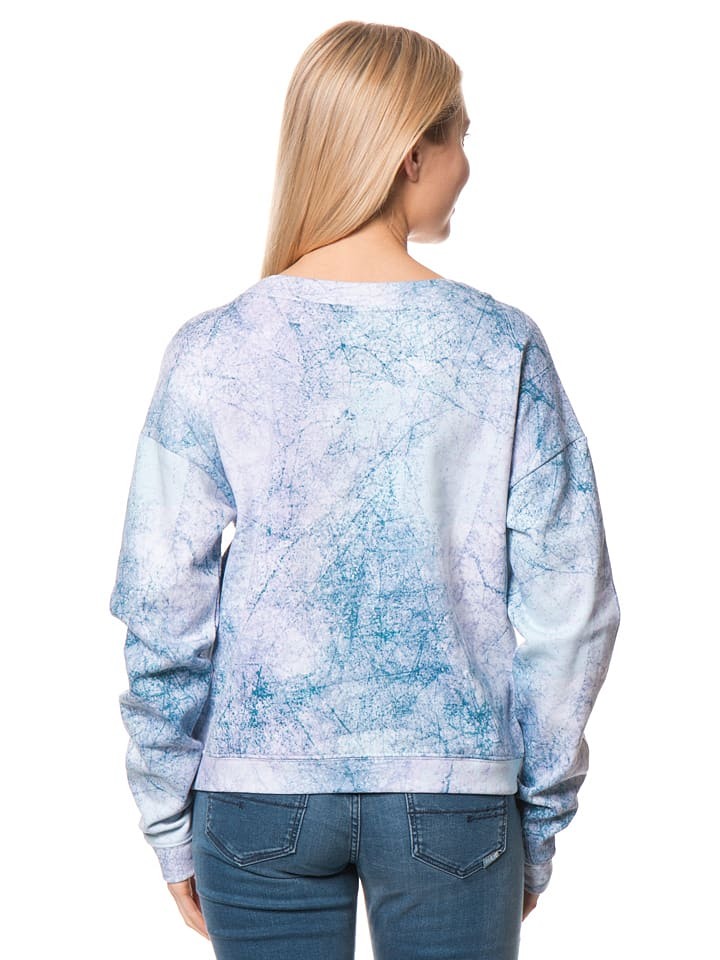 Bench Sweatshirt in Hellblau/ Bunt