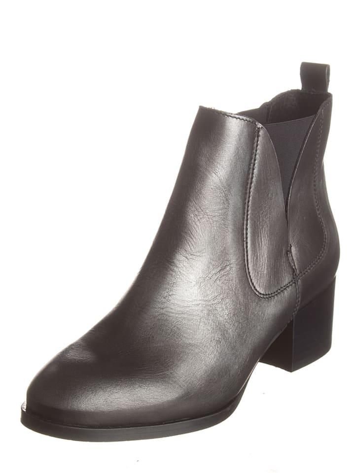Lazamani Leder-Chelsea-Boots in Anthrazit