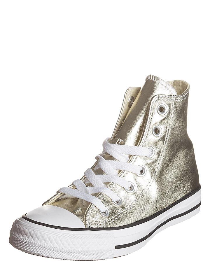 Converse Sneakers in Gold/ Weiß