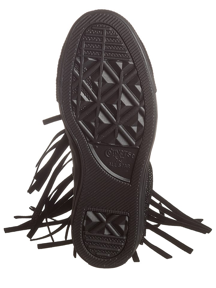 Converse Leder-Sneakers in Schwarz