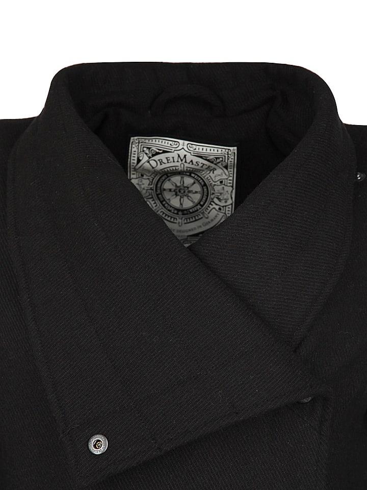DreiMaster Mantel in Schwarz