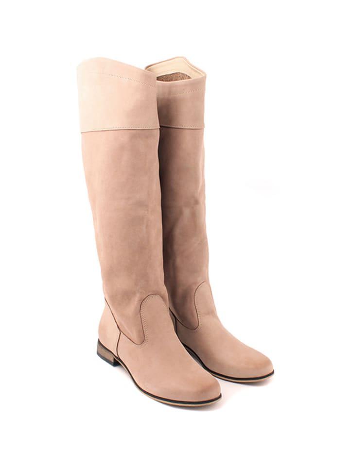 Zapato Leder-Stiefel in Hellbraun