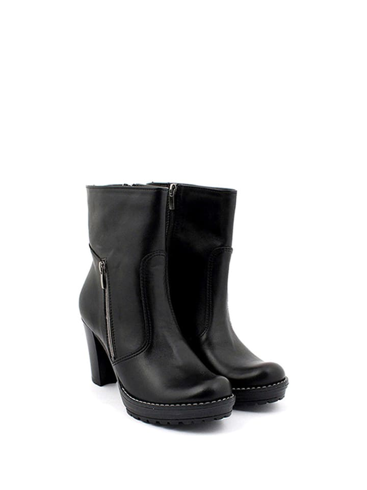 Zapato Leder-Stiefeletten in Schwarz