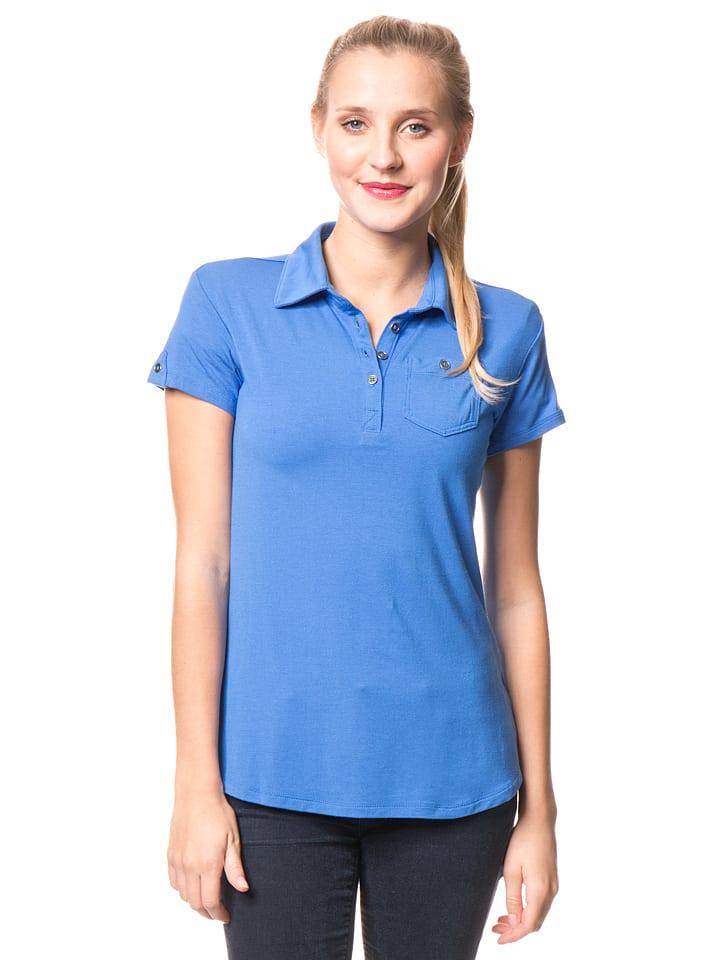 """Columbia Poloshirt """"Spring Drifter"""" in Blau"""