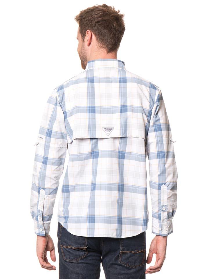 """Columbia Anglerhemd """"Super Bahama"""" in Weiß/ Hellgrau/ Blau"""
