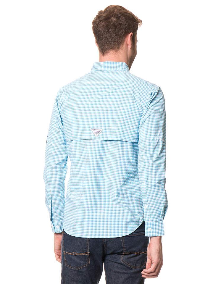 """Columbia Anglerhemd """"Super Bahama"""" in Hellblau/ Weiß"""