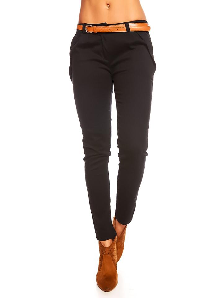 """Les Filles de Paris Spodnie """"Goyave"""" w kolorze czarnym"""
