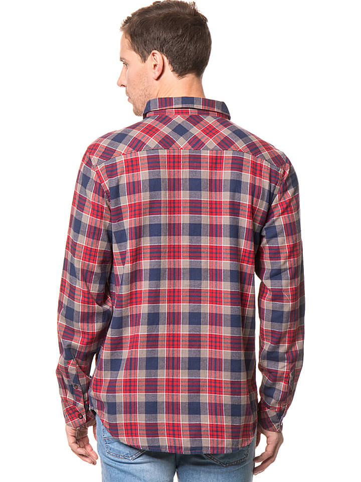 "Billabong Hemd ""Jackson"" in Blau/ Rot/ Grau"
