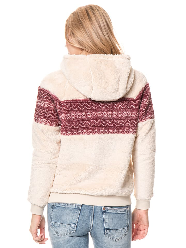 "Billabong Pullover ""Before Night"" in Creme/ Rot"