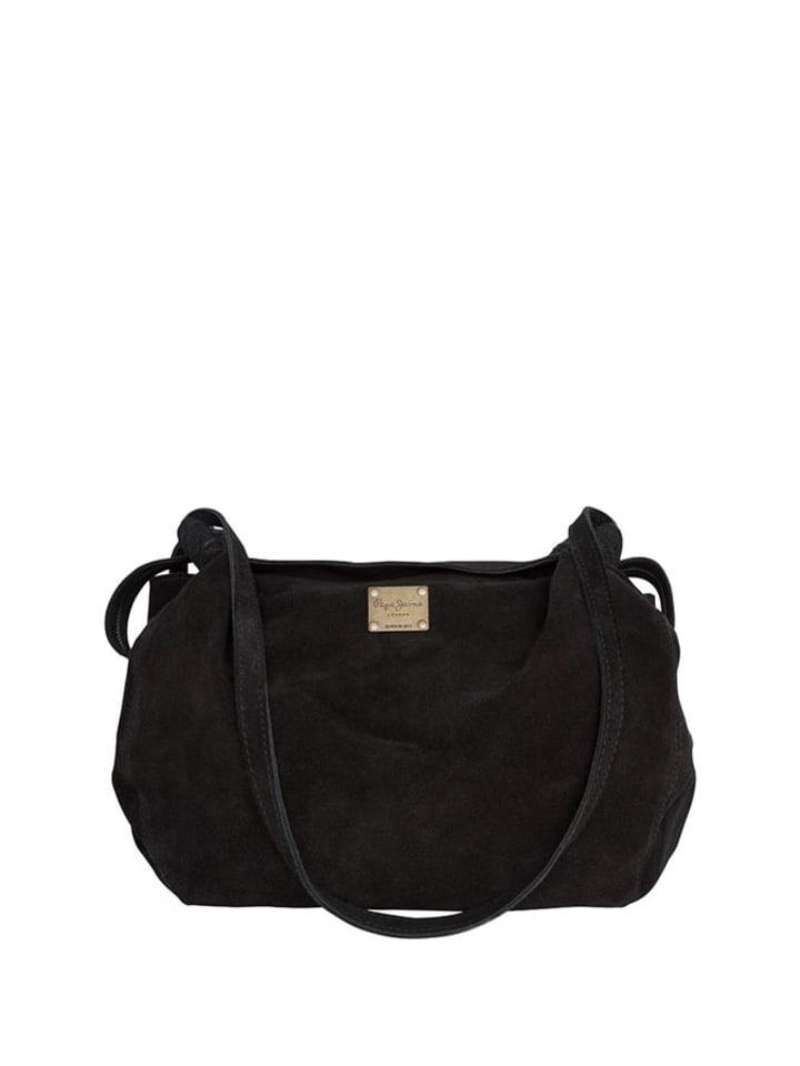 Pepe Jeans Skórzana torebka w kolorze czarnym - (S)35 x (W)20 x (G)12 cm
