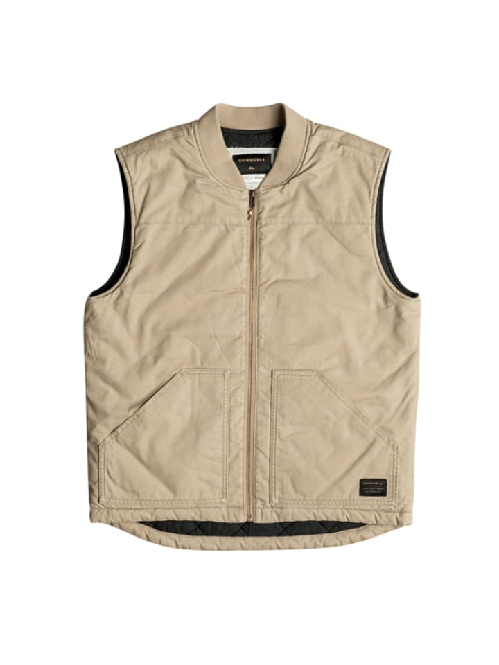 """Quiksilver Weste """"Stately Home"""" in Beige"""
