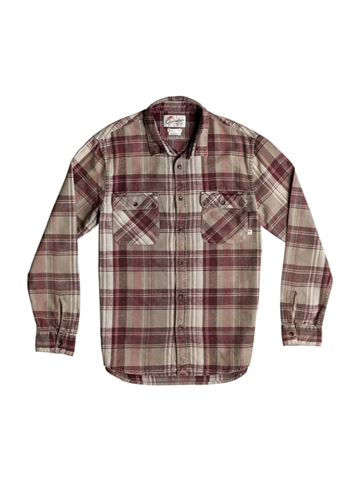"Quiksilver Hemd ""Happy Flannel"" in Rot/ Beige"