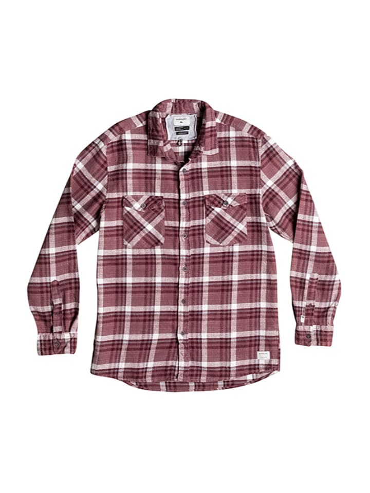 "Quiksilver Hemd ""Lost Wave Flannel"" in Rot/ Weiß"