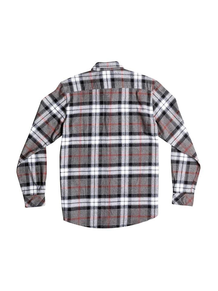 """Quiksilver Hemd """"Fitzthrower Flannel"""" in Grau/ Schwarz/ Weiß"""