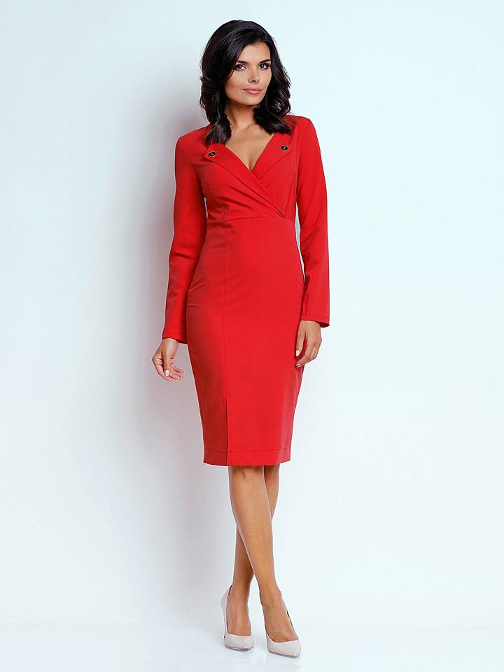 Naoko Kleid in Rot