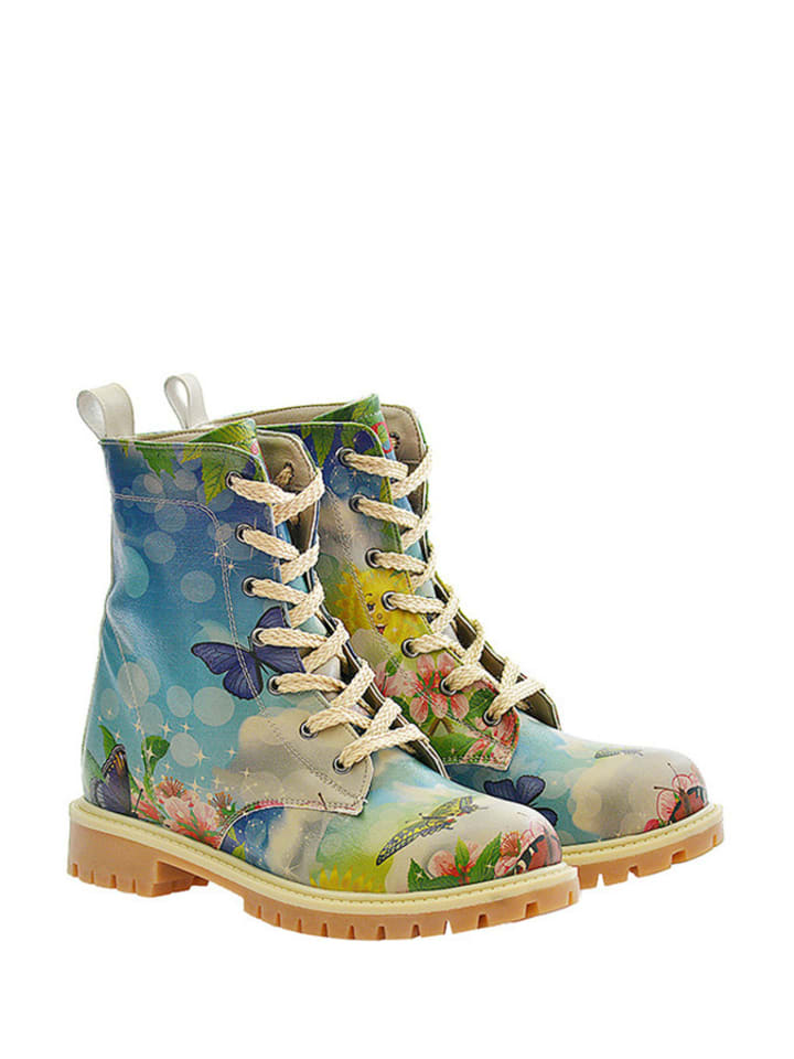 Goby Boots in Blau/ Bunt