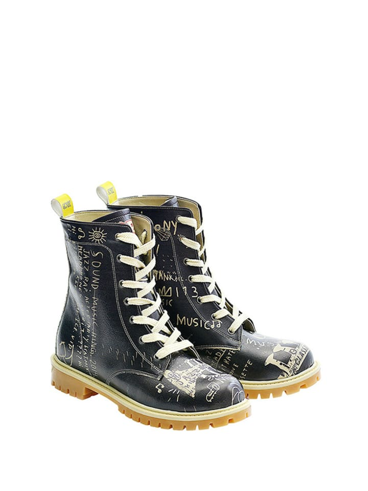Goby Boots in Schwarz/ Creme