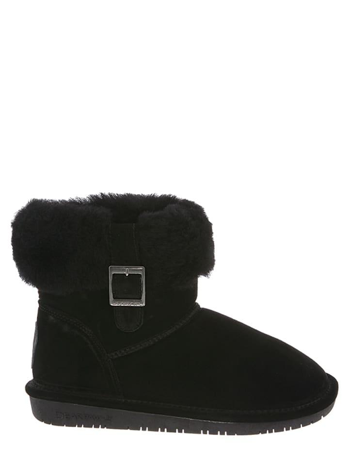 "Bearpaw Leder-Boots ""Abby"" in Schwarz"