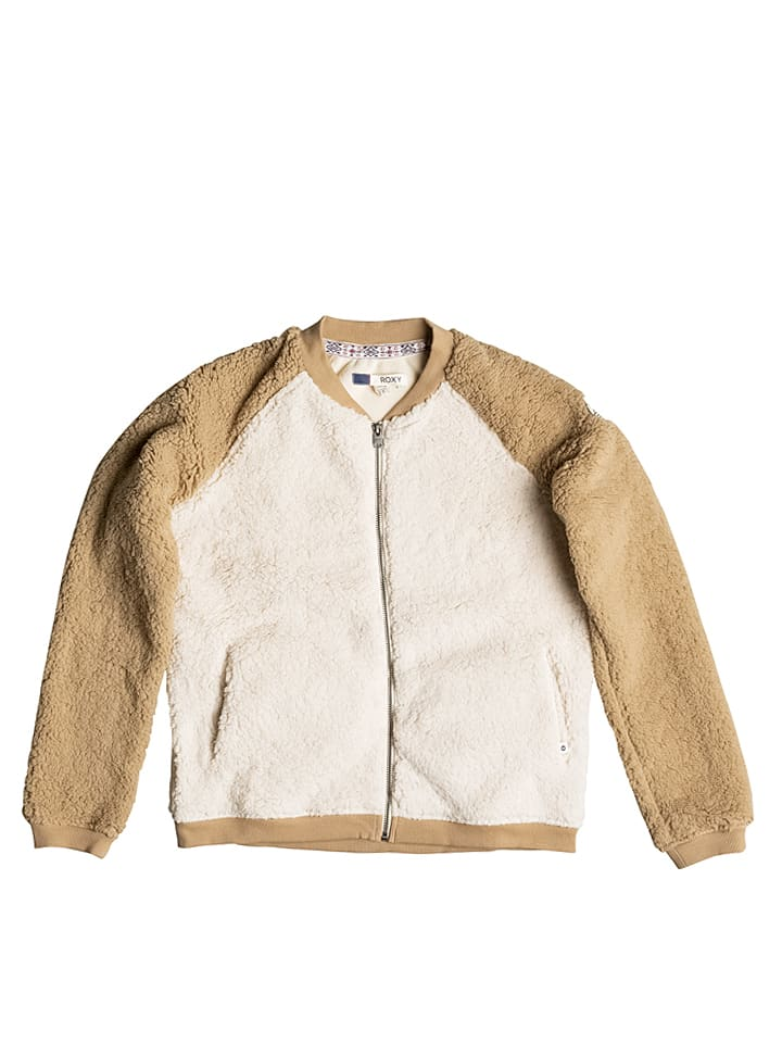 "Roxy Fleecejacke ""Winter"" in Creme/ Hellbraun"