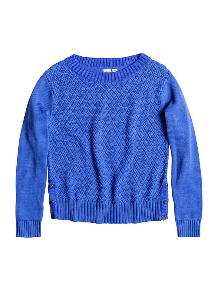 "Roxy Strickpullover ""Don't"" in Blau"
