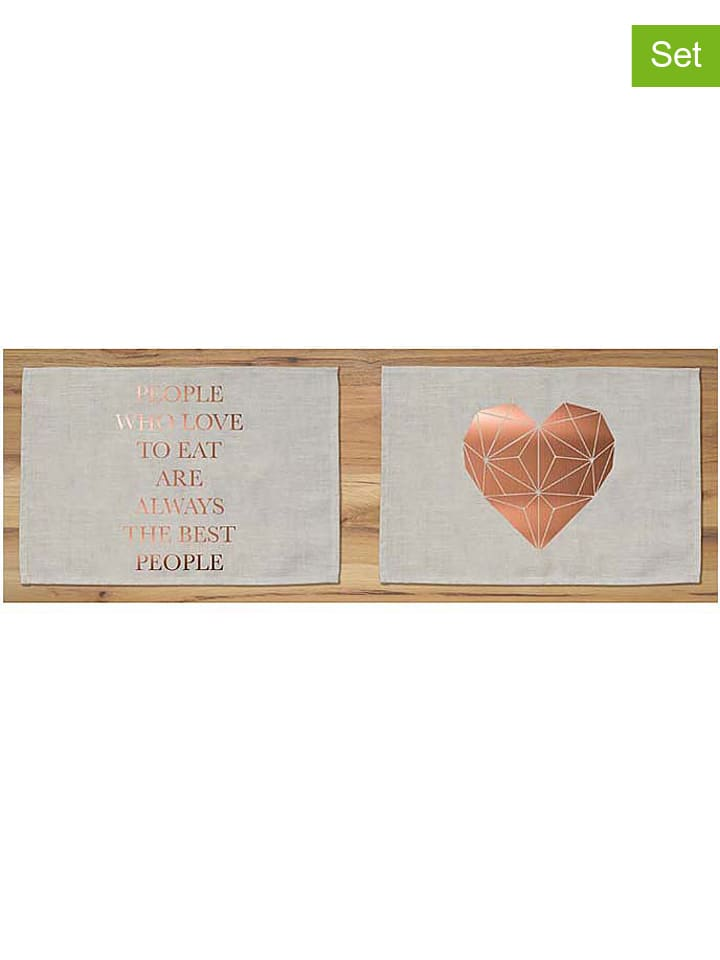Really nice things 2 delige set placemats copper - Really nice things ...