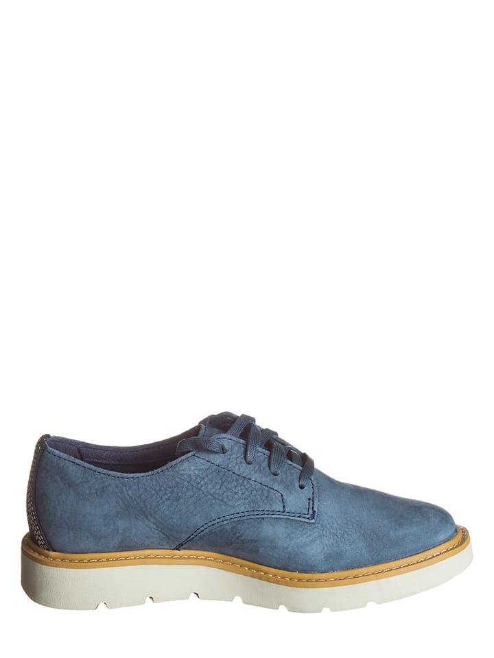 Timberland Leder-Schnürschuhe in Blau