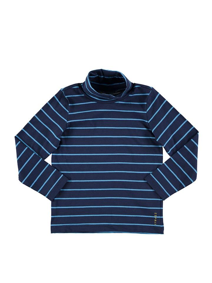 ESPRIT Longsleeve blauw/donkerblauw