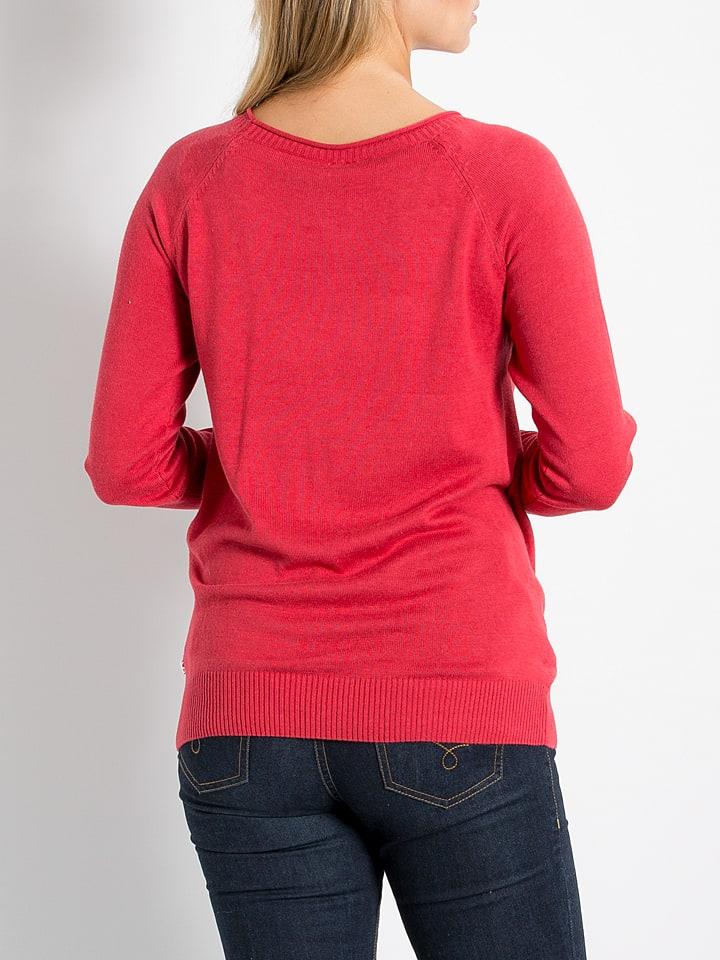 """Blutsgeschwister Pullover """"Schlanke Logo Ranke"""" in Rot/ Rosa/ Hellblau"""