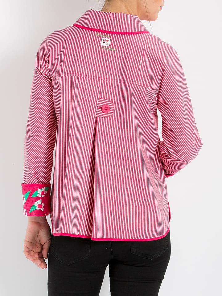 Blutsgeschwister Jacke Miss Manhattan in Pink/ Weiß