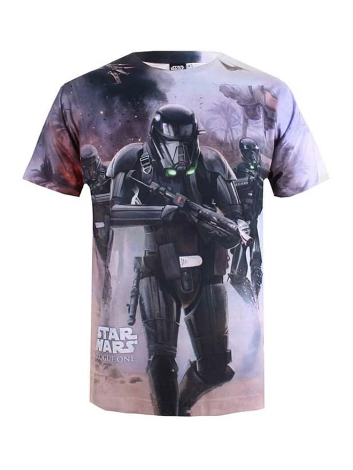 "Star Wars Shirt ""Beach Battle"" in Weiß/ Bunt"