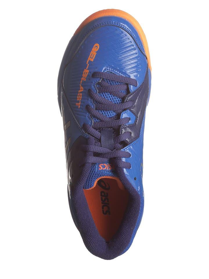 "Asics Trainingsschuhe ""Gel-Blast 6 GS"" in Blau/ Orange"