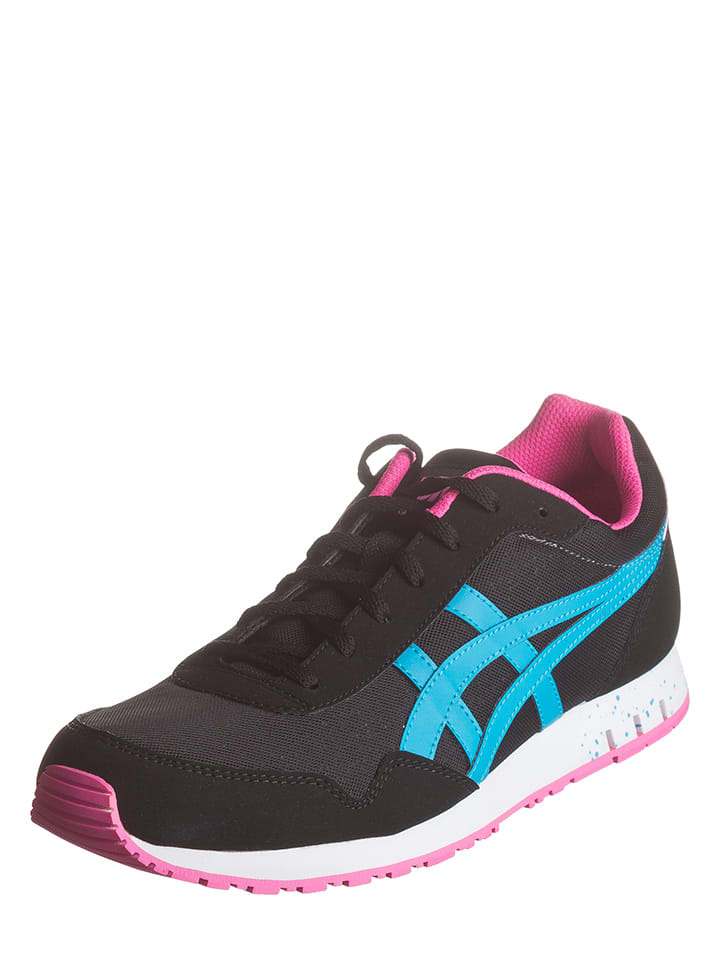 "Onitsuka Tiger Sneakers ""Curreo"" in Schwarz/ Türkis/ Pink"