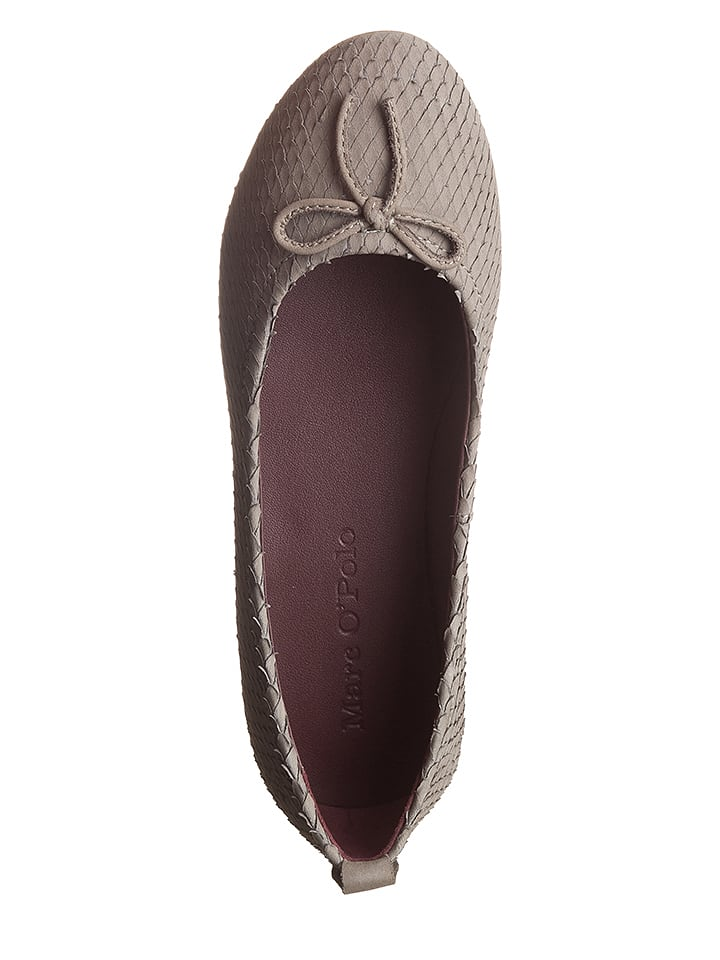 Marc O'Polo Shoes Leder-Ballerinas in Grau