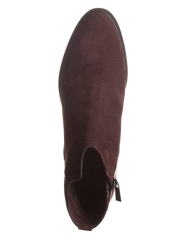 Marc O'Polo Shoes Leder-Stiefeletten in Bordeaux