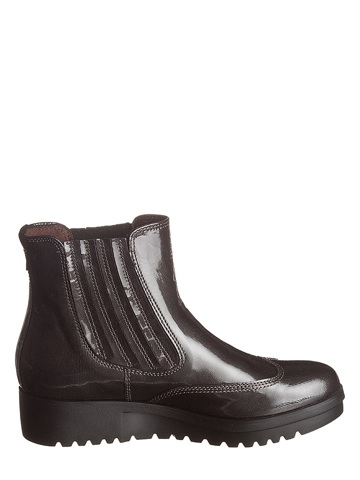 Marc O'Polo Shoes Leder-Chelsea-Boots in Anthrazit
