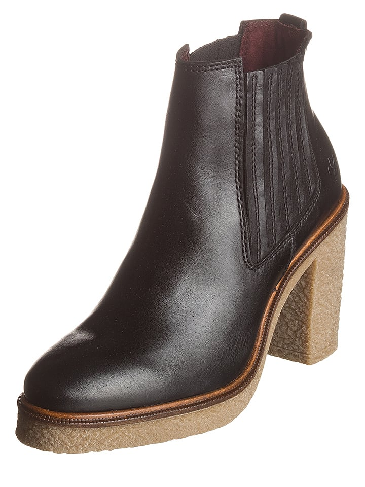 Marc O'Polo Shoes Leder-Chelsea-Boots in Schwarz