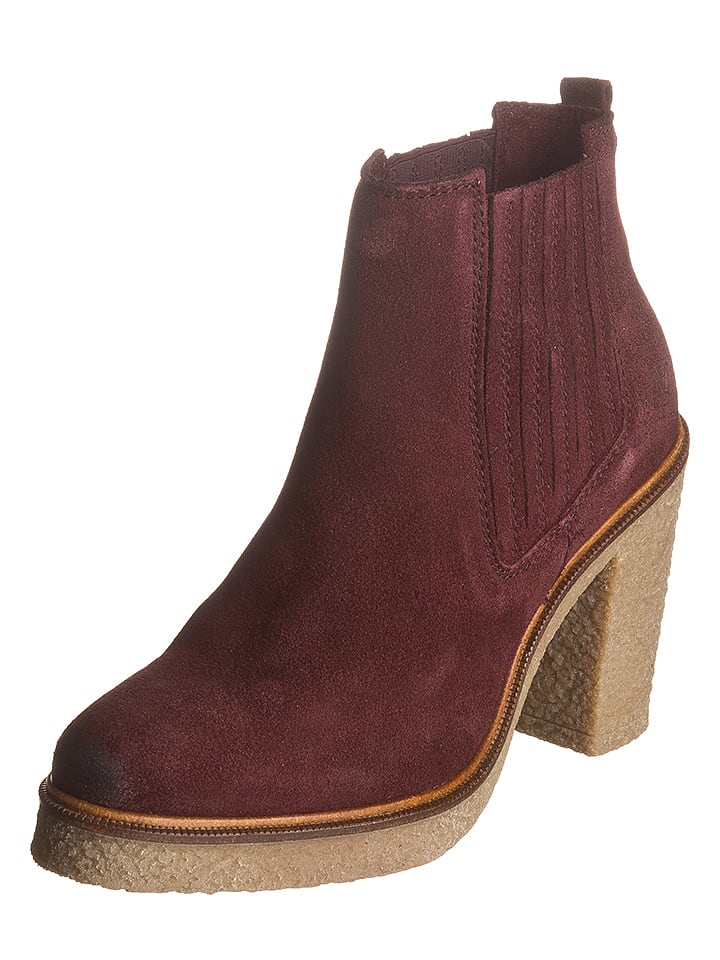 Marc O'Polo Shoes Leder-Chelsea-Boots in Bordeaux