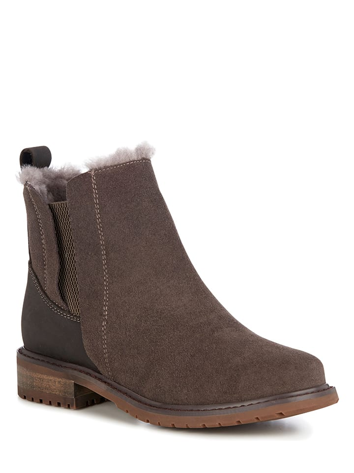 """EMU Leder-Boots """"Pioneer"""" in Taupe"""