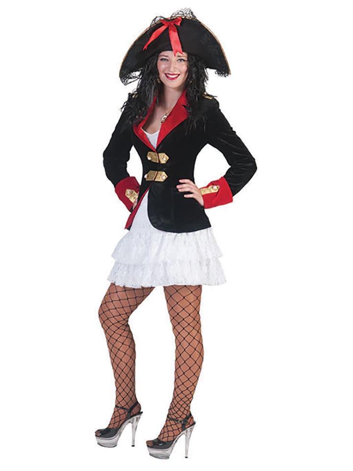 "Funny Fashion 2tlg. Kostüm ""Pirate"" in Schwarz/ Rot"