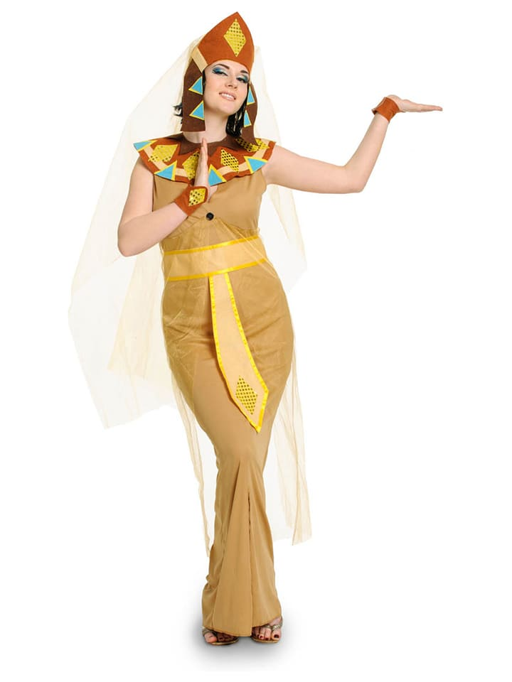 "FOLAT 5tlg. Kostüm ""Ägypterin"" in Hellbraun"