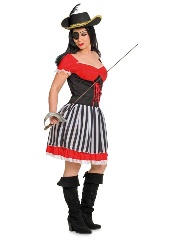 """FOLAT Kostümkleid """"Pirat"""" in Schwarz/ Rot"""