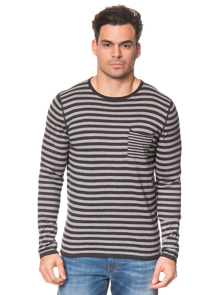 Marc O'Polo Pullover in Grau/ Anthrazit