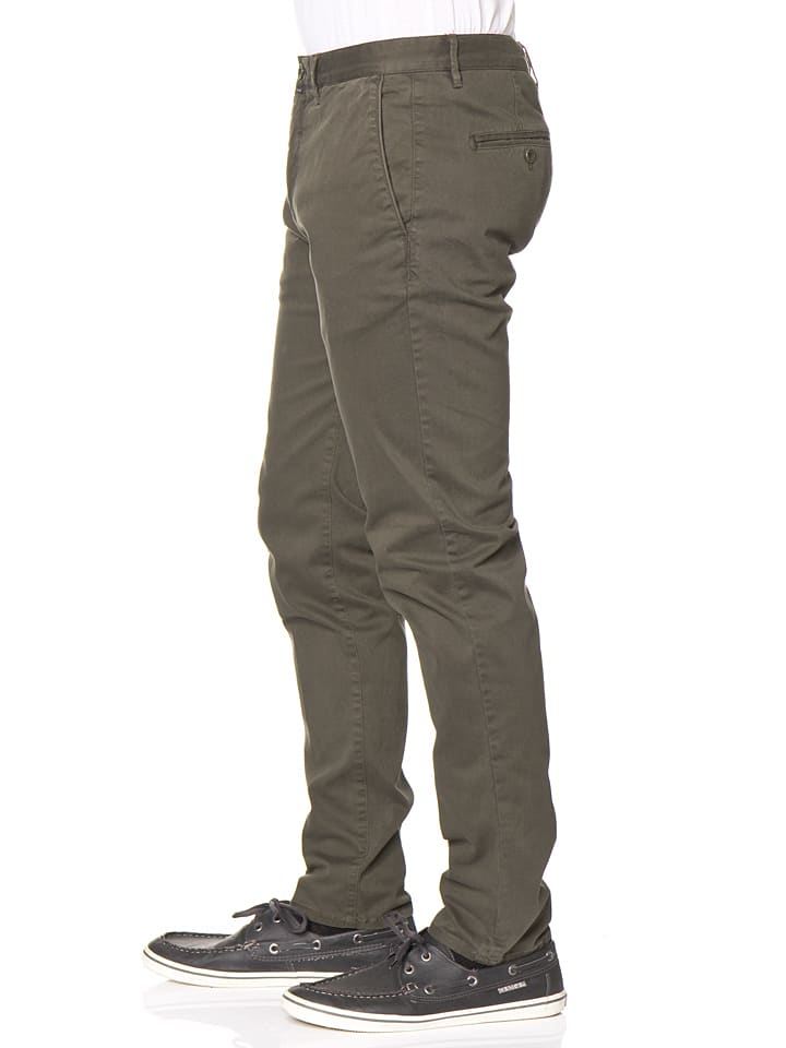 Marc O'Polo Chinohose - Slim fit - in Dunkelgrün