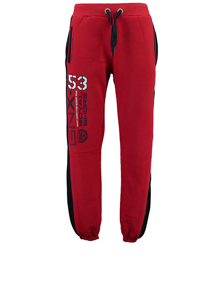 """Geographical Norway Sweathose """"Mapping"""" in Rot"""
